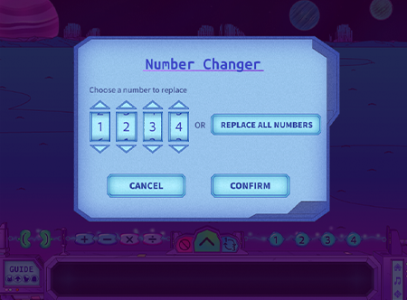 Agrinautica screenshot showing number changer