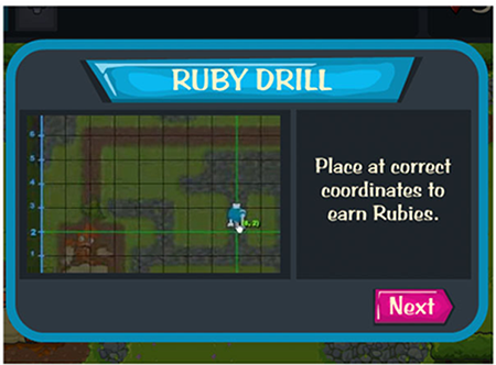 Game Over Gopher screenshot showing the Ruby Drill placed on the correct coordinates
