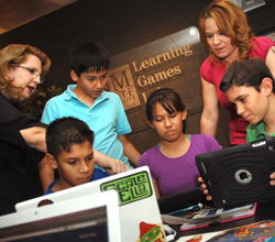 A testing session in the Learning Games Lab